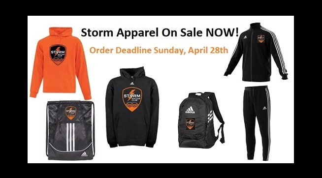 Storm apparel on sale NOW for a limited time!